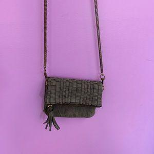 Anthropologie Dark Gray Crossbody Bag